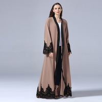 Cardigan Muslim Abayas For Women Bangladesh Embroidery Hijab Jilbab Kaftan Abaya Turkey Robe Dubai Qatar UAE Islamic Clothing