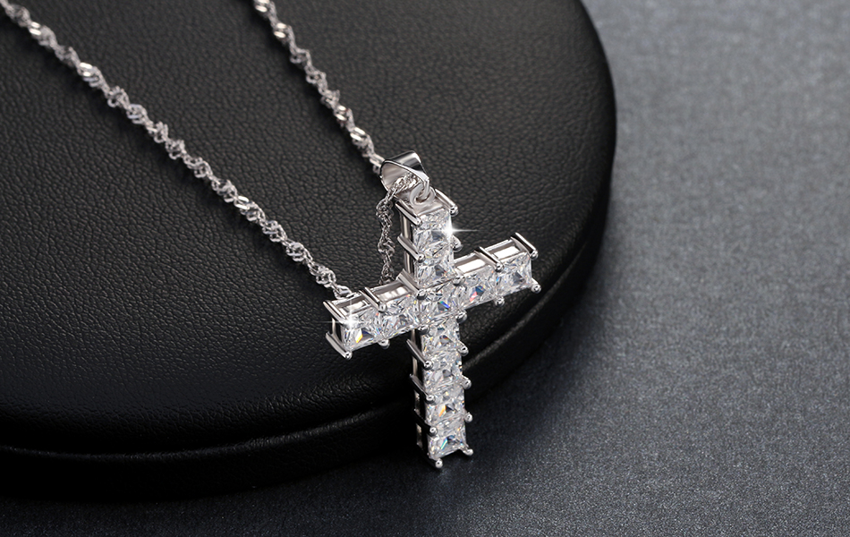 AAA Cubic Zircon Cross Pendant Necklace