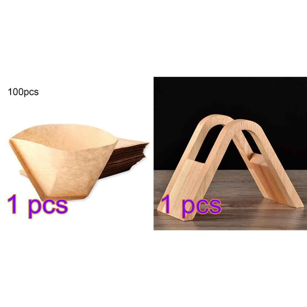 Wooden Holder for Coffee Filter Paper Coffee Filters Dispenser Storage Rack Minimalist Design for Home Office Cafe Hotel