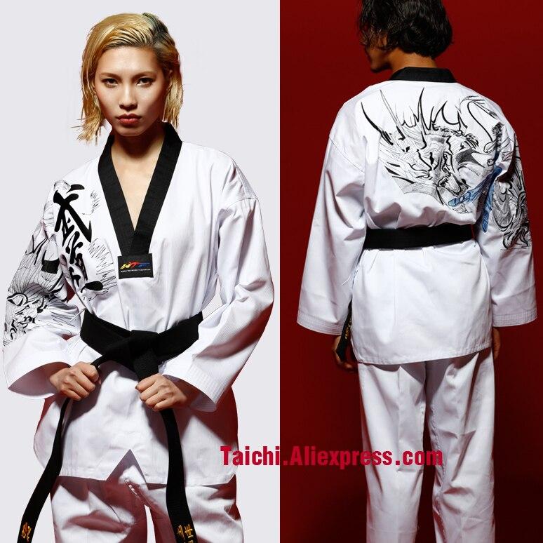 New Taekwondo Uniform Karate Dobok WTF Approved TKD Poomsae Martial Art Costume