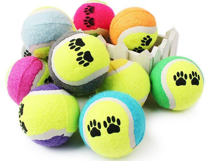100 stücke Candy farbe Hund Spielzeug Tennis Balls Run Fangen Werfen Spielen Spielzeug Kauen Spielzeug-in Hundespielzeug aus Heim und Garten bei  Gruppe 1