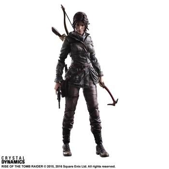 Play Arts Kai Action Figure Tomb Raider Rise of the Tomb Raider Lara Croft Doll Figure PVC Collectible Model Toy 27cm фото