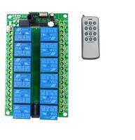 Universal Long range DC 12V 12 V 12CH Wireless Remote Control Switch Transmitter Receiver for Appliances Garage Door light lamp