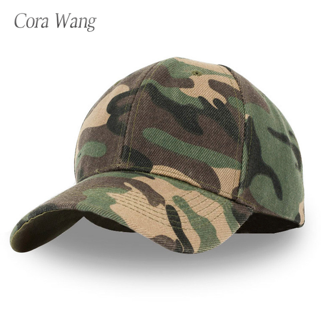 2c0a2707356 20 Mens Army Camo Cap Baseball Casquette Camouflage Hats For Men Camouflage  Caps Women Blank Desert Hat wholesale Accessories