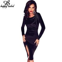 Autumn Female Vestidos Elegant Wine Velvet Dress Long Sleeves Bodycon Women New Sexy Fashion Clothing Free