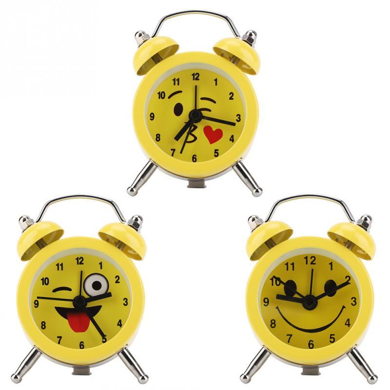 3 Zoll Tragbare Mini Metall Digitale Wecker Mit Batterie Emoticon Zahlen Für Student Heimnutzung Exquisite Handwerkskunst;