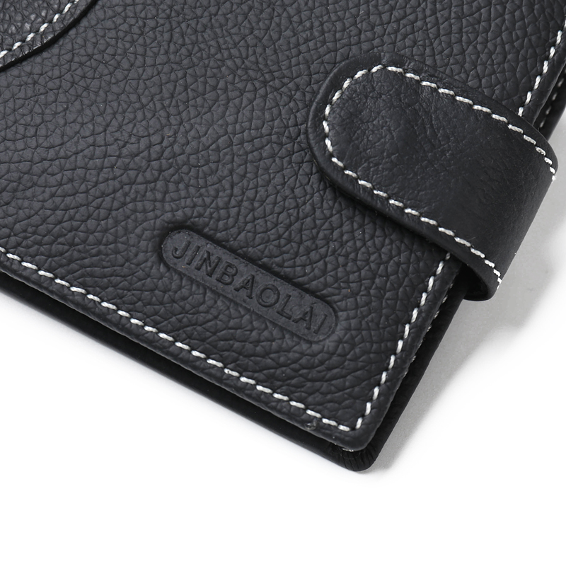 Fashion Mens Genuine Leather Short Wallets Coin Cash Pocket Purses Gift For Men Card Holder Bifold Male Purse Money Bag Carteira
