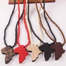 Африканское ожерелье, золотой цвет, подвеска и цепочка, Африканская Карта, подарок для мужчин/женщин, эфиопские ювелирные изделия, модные ювелирные аксессуары