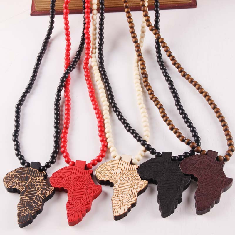 Arab Republic of Egypt Flag Map Necklace Pendant 45cm Chain Egyptian Africa Asia