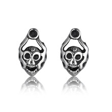 Punk Biker Small Animal Monkey Stud Earrings For Men Cool Stainless Steel Male Earrings Rock Jewelry Gift(China)