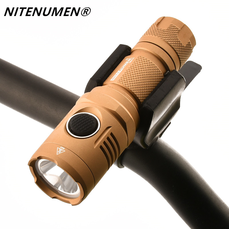 NITENUMEN NE01 XP-L V5 LED Bicycle USB Rechargeable Bike Front Light Outdoor Cycling Head Lamp 18650 Flashlight Torch solar energy usb rechargeable 2 in 1 bicycle safety warning lamp cycling bike led front light waterproof headlight black white