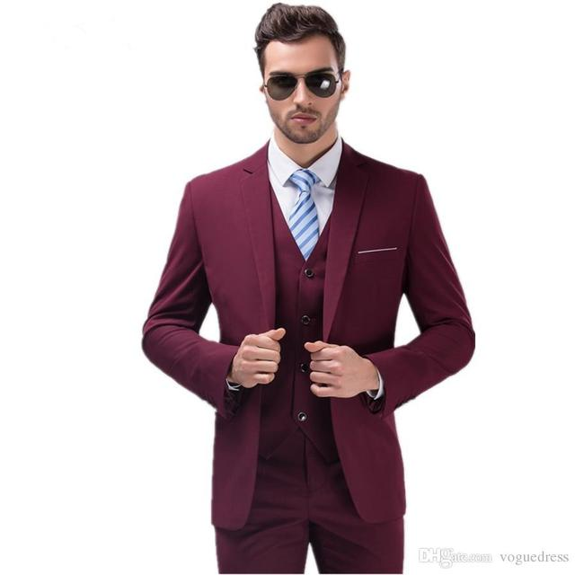 Aliexpress.com : Buy Best Selling Burgundy Suits for Mens Groom ...
