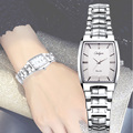 Relógios de pulso de Quartzo Para As Mulheres-Analógico Prata Aço Inoxidável Mulheres Relógios Top Marca de Luxo Senhoras Vestido Relógio À Prova D' Água 8893