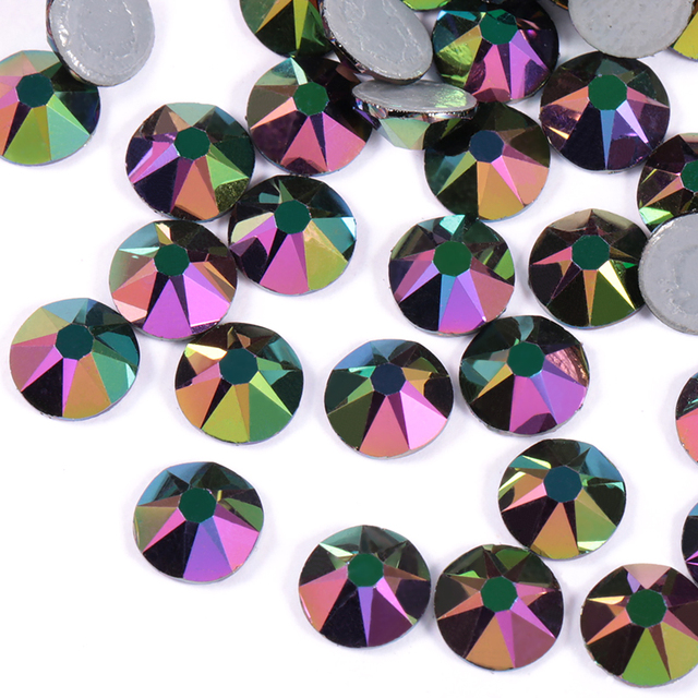 QIAO New color Plating colorful SS16 SS20 SS30 New Faceted Cut Facets 8 big  8 small Iron On stone Hot-fix Garment Rhinestone 63c4a5f55a88