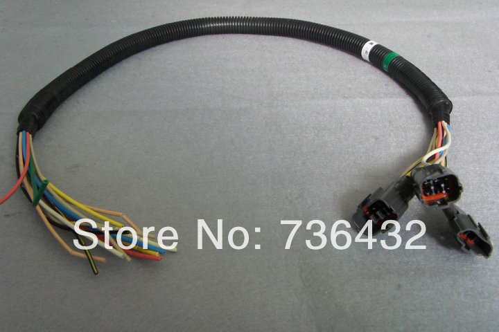 Free shipping! Excavator Electronic fuel pump plug wire harness - digger  wire harness- digging machine wire harness e320c 320c excavator monitor connector wire 157 3198 260 2160