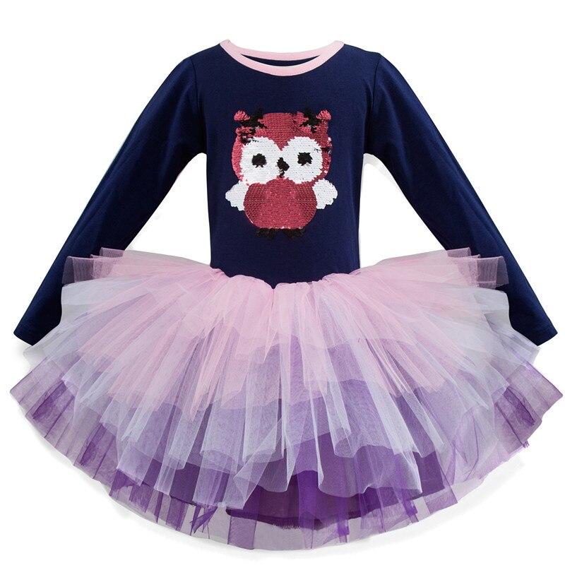 HTB1TuJBaQY2gK0jSZFgq6A5OFXaM 3-8 Years Girls Dress Long Sleeve Kids Unicorn Party Vestidos Fancy Children Princess Dresses Kids Birthday Dress For Girl
