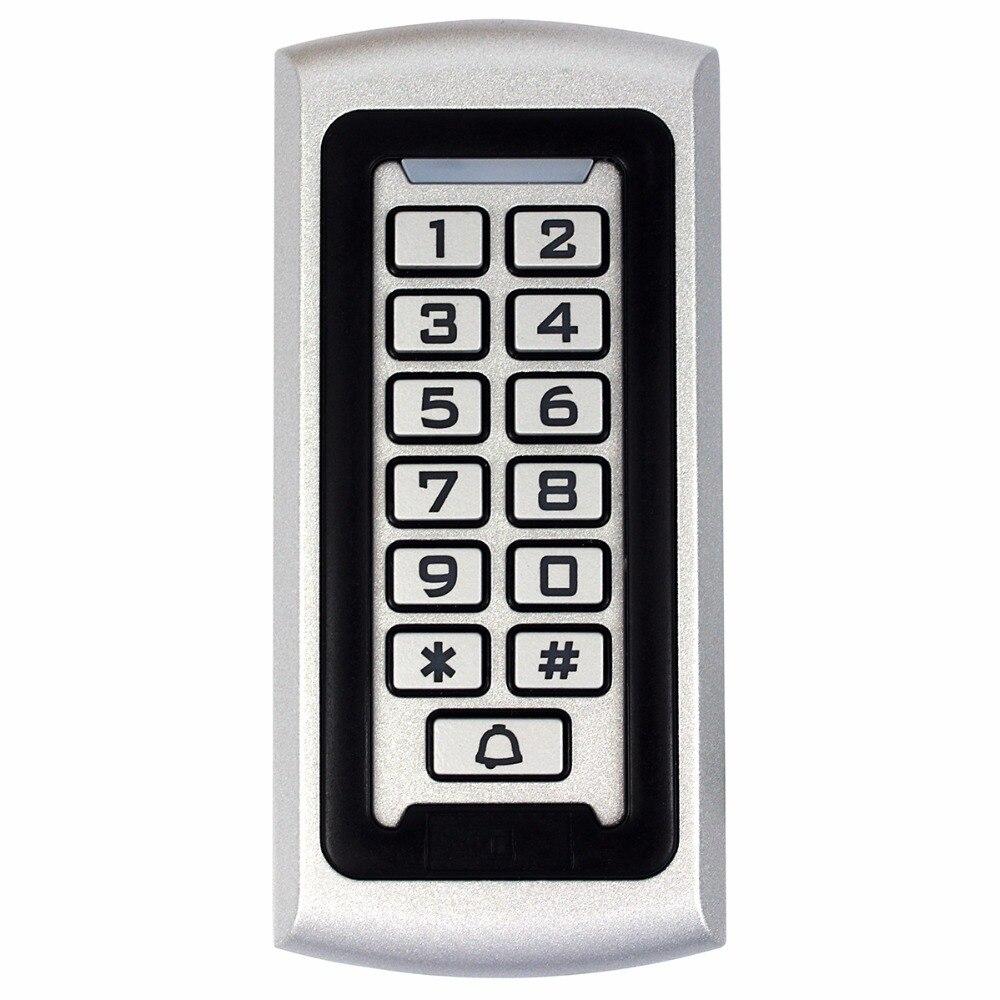 Rfid Keypad Access Control 125Khz EM ID Proximity Entry Door Lock Access Control System Anti-vandal Waterproof Metal Case new arrival metal case anti vandal 125khz rfid keypad access control wiegand 26 input