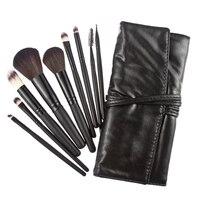W7Tn Hot 9pcs Eyeshadow Pro Cosmetic Makeup Brush Set Kit Black Case Bag
