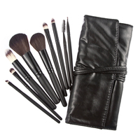 W7Tn Hot 9pcs Eyeshadow Pro Cosmetic Makeup Brush Set Kit Black Case Bag