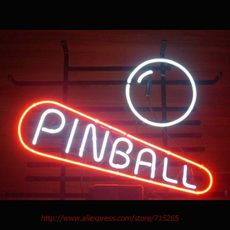 ff5b43352ccf New Pinball Game Room Neon Sign Neon Bulbs Led Signs Real Glass Tube  Handcrafted Decorate Beer Pub Advertise Neon 17X14