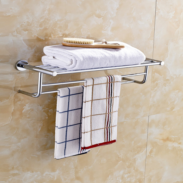 US $130.8 |Aothpher 60 CM Edelstahl Verchromt Handtuch Marke Bad  accessoires Handtuch Regal Wand Handtuchhalter in Aothpher 60 CM Edelstahl  Verchromt ...