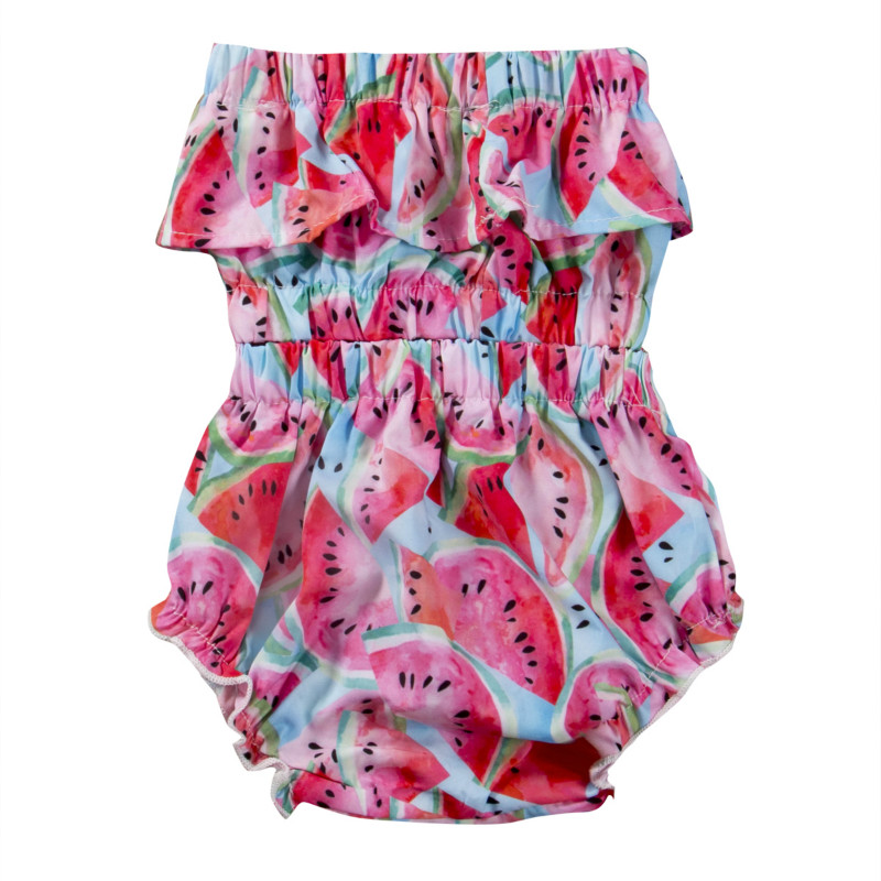 Kids Infant Newborn Baby Girls Watermelon Ruffles Off Shoulder Blouse Tops+Bottoms Shorts 2pcs Outfit Set Summer Sunsuit Clothes summer casual denim newborn toddler baby girl clothing kids off shoulder crop tops shorts outfit clothes set