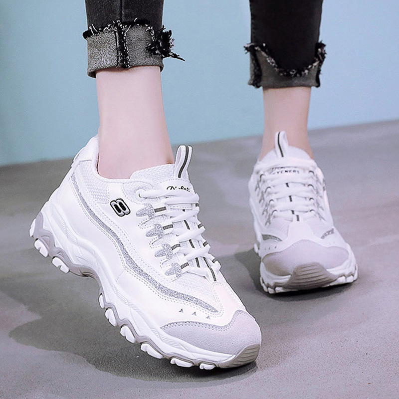 2018 Fashion Lace Up Trainers Sneakers Women Casual Shoes Air Mesh Students Platform Shoes Woman Tenis Feminino Zapatos Mujer women shoes 2018 fashion spring air mesh flats lace up ladies shoes woman sneakers zapatos mujer tenis feminino casual shoes