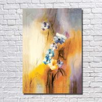 Big Size Paintings 100 Hand Painted Small Flower Oil Painting On Canvas For Living Room Decoration
