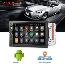 Zeepin Android6 0 font b Car b font Multimedia Player Bluetooth GPS Navigation Auto Radio Audio