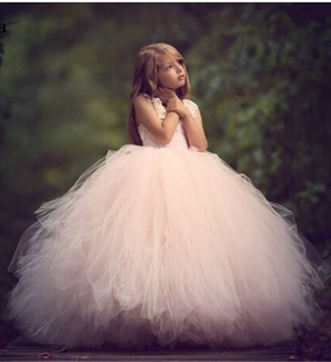 Real Pictures Pink Puffy Girls Dresses Lace Beading Hollow Back Ball Gown Birthday Dress New Flower Girl Dress for Wedding Real Pictures Pink Puffy Girls Dresses Lace Beading Hollow Back Ball Gown Birthday Dress New Flower Girl Dress for Wedding