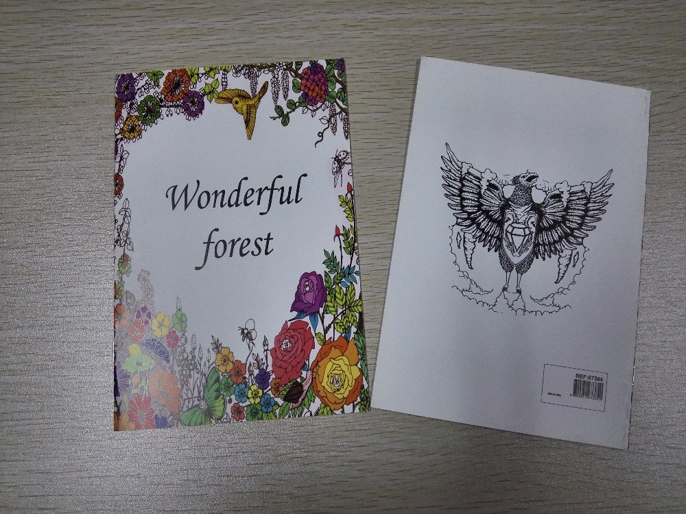English Edition Wonderful Forest Coloring Book 16 Pages Secret Garden Styles For Adult Relieve Stress Painting Drawing Books