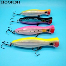 HOOFISH 2PCS Popper lure Top water fishing lure 40g/12cm 4colors 3D Eyes Artificial bait  peche hard fishing lure цена