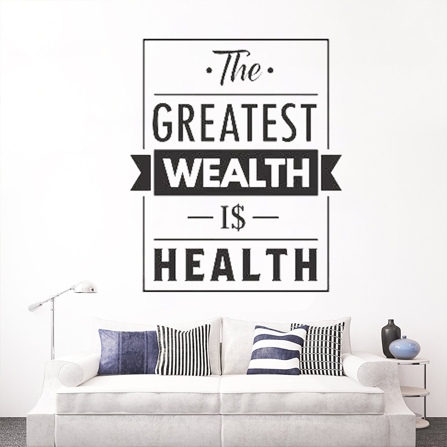 Health Quote Vinyl Wall Decal Medical Office Home Gym