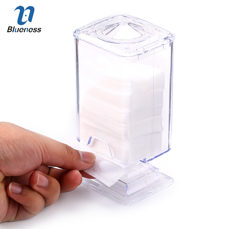 Transparent Nail Clean Paper Box Nail Art Tips Manicure Polish Remover Clean Wipes Cotton Lint Pads Paper Nail Tools 1 roll 10m clear nail double side nail adhesive tape strips tips transparent manicure nail art tool