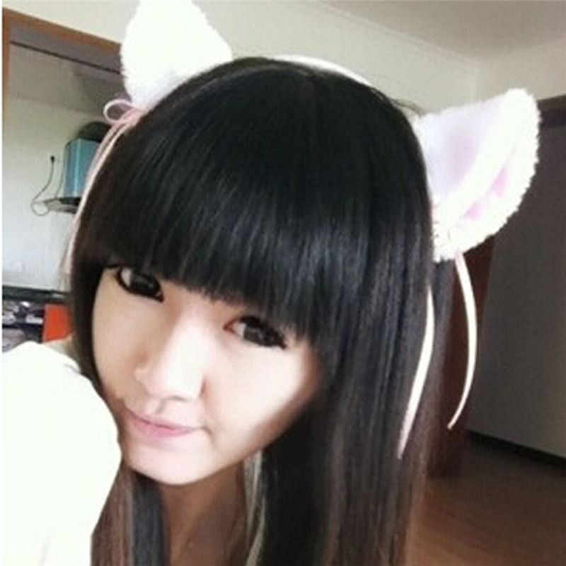 Gorący sprzedawanie najnowszy kobiety moda urocze piękne Fox ucho kota futro klips do włosów Hairband Bell Hairwear