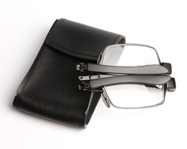 2019 Sale Fashion Ultra-light Women Men Slim Metal Folding Reading Glasses Mini Foldable Eyewear With Case Diopter +1.00-+4.00