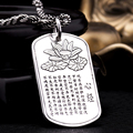 925 Sterling Silver Lotus Pendant S925 Solid Thai Silver Pendants 1 pieces bring Good Luck Pendant Men Jewelry HYP28