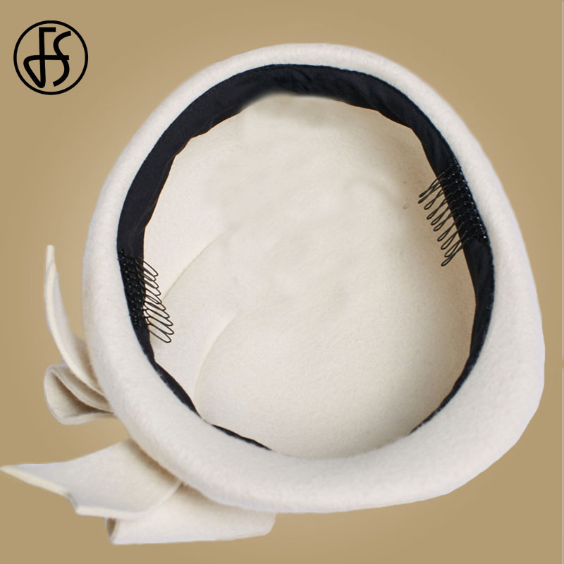 2ff8fc377faec3 Vintage Women Ladies Black Feather Mini Top Hat Bowknot Hair Clip Fascinator  Wedding Engagement Church Party