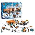 Zhenwei 10442 Arctic Base Camp Helicrane строительные блоки  кирпичи  игрушки для детей 60036  фигурки городской модели