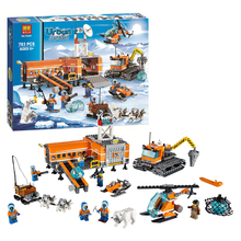 Zhenwei 10442 Arctic Base Camp Helicrane Building Blocks Bricks Toys For Children 60036 City Model Figures