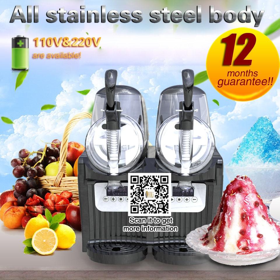 Slushy Machine Commercial Slushie Mix 2 Tanks 4L Capacity. 110V/220V.FREE SHIPPING