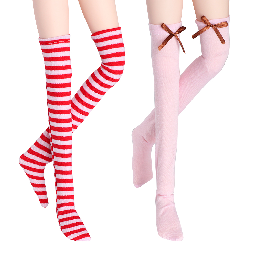 1Pair Lovely Sexy Lace Fashion BOW Pattern Fishnet Stocking for BJD 1/3 1/4 1/6 SD MSD YOSD Doll Accessories Toy Clothes