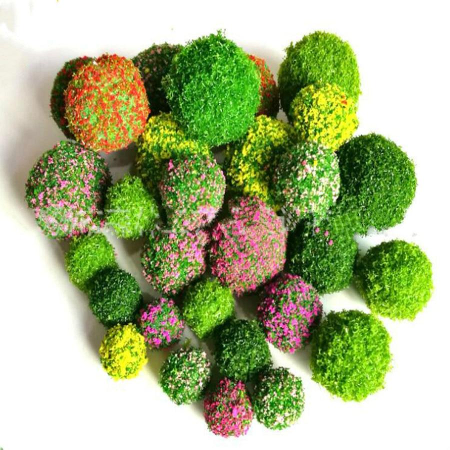 2018 new 100Pcs/Lot Ball-shaped Flower Model Trees Mixed Model Landscape Trees2018 new 100Pcs/Lot Ball-shaped Flower Model Trees Mixed Model Landscape Trees