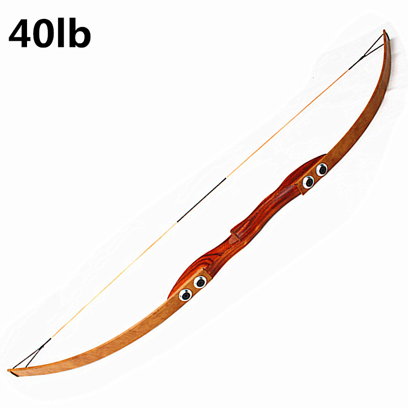 40 Lbs Archery Bow Powerful Recurve Bow For Right Hand Outdoor Hunting Shooting Traditional Long Bow  Archery Pure Handmade  Bow