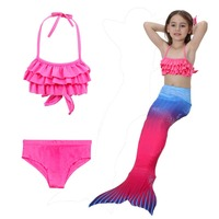 Girls Bra Shorts Dress Monofin Mermaid Tails Swimsuit Cosplay Lightweight Material Kid S Baby S Swimming