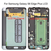 "For Samsung Galaxy S6 Edge Plus LCD G928 G928F Display Touch Screen Assembly Replacement 5.7"" For SAMSUNG S6 Edge Plus LCD+frame(China)"