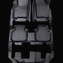 Хорошее качество! Специальные автомобильные коврики для Fiat Freemont 7 мест-2011 водонепроницаемые ковры для Freemont