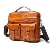 Men S Bags Made Of Genuine Leather Handbag Men Male Messenger Shoulder Totes Crazy Horse Cow