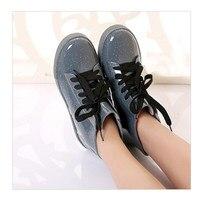 Waterproof Lace-Up Rain Boots