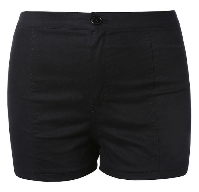 New Summer Women's Solid Shorts, Chris Cross Bandage, High Waist Casual Black Short Shorts 9